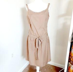 Miu Miu tan sleeveless summer dress